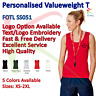 Personalised Custom Embroidered Printed Ladies Valueweight Vest Tank T Shirt TOP