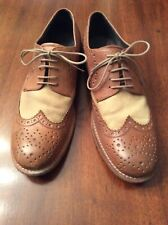 Kenneth Cole Shoes Mens Two-Tone Lace Up Brown Oxfords 10.5