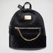 Bebe Gina Quilted Velvet Backpack - Zipper Closure - Gold Hardware (E07-741V)