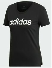 Adidas Women Tee Brushed Effect Linear Logo White or Black -Select Size MSRP $25