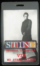 Sting Original 1991 World Tour Vip Laminate Backstage Pass