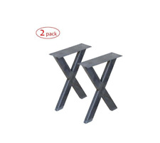 Steel Bench legs / base X shape, 1 Pair -30cm/12'' wide 40cm/16'' tall