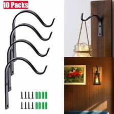10 Pack Iron Wall Hooks Metal Lantern Bracket Coat Hook Plant Planter Hangers