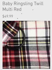 Baby Ring Sling Ringsling Maya Adjustable Carrier Cotton Twill Plaid Multi Red