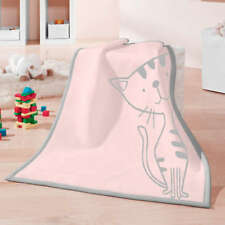 Biederlack Babydecke Lovely &amp Sweet Kitty Rose 75x100 Cm