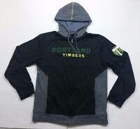 Adidas Portland Timbers MLS Soccer Gray Hoodie Jacket Climawarm Adult Medium
