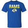 Men's Los Angeles Rams Fan Gear Split Logo Short Sleeve Royal T-Shirt S-5XL