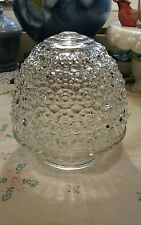ANTIQUE CLEAR GLASS BEE HIVE STLYE , GLOBE,  SCONCE, SHADE CEILING LIGHT FIXTURE