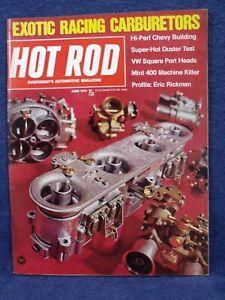 HOT ROD MAGAZINE~JUNE 1970~VW SQ PORT HEADS-DUSTER TEST-ERIC RICKMAN-MINT 400