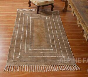Indian Hand Block Printed Oriental Bohemian Dhurries Area Rugs Boho Rugs 2x3 4x6