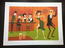 """""""THE INVISIBLE MAN"""" SHAG JOSH AGLE SIGNED LIM EDN UNIVERSAL MONSTERS PRINT $175"""
