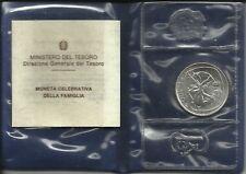 ITALIA REPUBBLICA 1987 MONETA CELEBRATIVA DELLA FAMIGLIA ARGENTO FDC