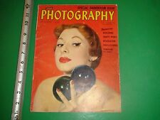 JC782 Vintage 1950 Issue of Photography Magazine Topless Red Head Red Lipstick