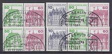 Berlin Zusammendruck gest W 75 - W 78 aus MH 13 Burgen & Schlösser Sonderstempel