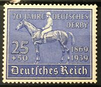 Germany 3rd Reich1939  70th Anniversary German Derby  Mi#698 Sc #B144 MNH