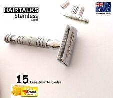 HairTalks Men Safety Razor Shaver 15 Double Edged Blades Premium Quality