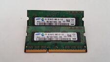 Samsung 4GB(2X2GB) PC3-10600 DDR3-1333MHz non-ECC Unbuffered CL9 204-Pin SoDimm