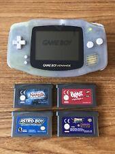 Game Boy Advance Glacier Handheld Console Bundle +5 Games