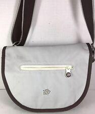 Sherpani Light Gray Nylon Crossbody Shoulder Bag Adjustable Strap