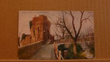 Unposted Postcard Chester: The City Wall & water tower