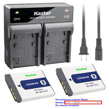 Kastar Battery Rapid Charger for Sony OEM NP-BD1 NP-FD1 & Genuine BC-CSD BC-CS3