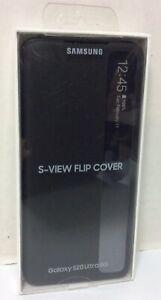 SAMSUNG S-View Flip Cover for Samsung Galaxy S20 Ultra (Black) - NEW