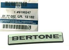 GENUINE VAUXHALL / OPEL Astra G Coupe & Convertible 1998-2005 BERTONE BADGE