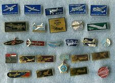 Russia Aviation Airships Tematic Military and Civil 26 Pin Badge Medal