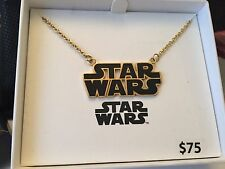 STAR WARS LOGOStainless Steel PENDANT Necklace GOLD