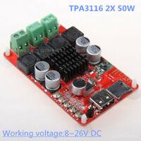 TPA3116 2X 50W Bluetooth Receiver Amplifier Board TF USB Decoder Remote Control