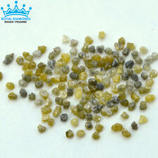 25 cts 100% Natural Loose Rough Diamonds Fancy Yellow-Grey 2.20mm raw uncut real