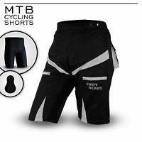 MTB Cycling Shorts,Cycle,Mountain Bike,Grey,CoolMax Padded Inner Lycra Liner