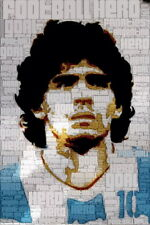 "021 Diego Maradona - Argentina Soccer football star 14""x21"" Poster"