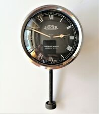 Luxury car clock BRITISH JAEGER 8 DAYS CHRONOS WORKS LONDON N.W.2.used vintage