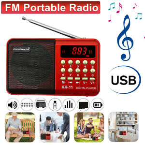 Digital Portable USB TF FM Radio Receiver Speaker MP3 Music Player Rechargeable