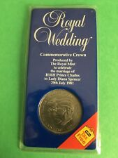 Prince Charles and Lady Diana Royal Wedding 1981 Commemorative Crown Coin Rare
