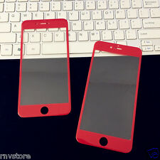 iPhone 7 Screen Protector Full Cover 9H Tempered Glass Twin Pack (Red)