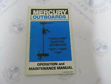 90-86204 Mercury Thruster Electric Outboard Operation & Maintenance Manual RC DM