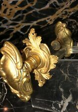 Antique Gilded Bronze LOUIS XV Ornate Door Knobs 3 Piece Sets . RM2BoutonRosaces