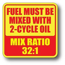 """V2 32:1 2-Cycle Oil Fuel Mix Ratio Sticker Decal Chain Saw Weed Trimmer Gas 2"""""""