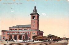 1910 Union RR Depot El Paso TX post card