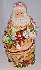 "Christmas Royal Albert Santa Cookie Jar Old Country Roses 13 1/2"" Tall"