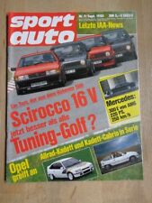 Sport Auto 85/09 BMW Baur Cabrio – Ford Sierra Turbo DTM - VW Golf GTI Nothelle