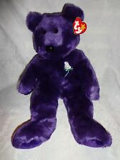"Ty 1998 Princess Diana Bear Beanie Buddy 15"" Plush Soft Toy Stuffed Animal"
