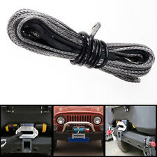 1x 12.5M LBS Black Dyneema Synthetic Winch Cable Cord Rope For SUV ATV Pickup