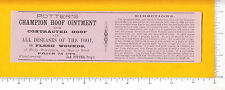 7069 James Potter's Champion Hoof Ointment 1895 label horse veterinary medicine