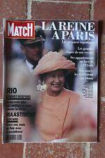 Paris Match 2247 Elisabeth en France Bowie Patti Davis