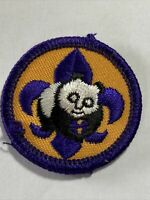 BSA Scout  Panda Bear Patch round Environmental Badge
