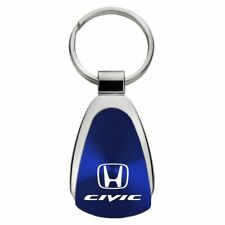 Honda Civic Key Ring Blue Teardrop Keychain