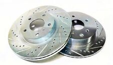 P2M Zinc Coated Slotted Drilled Front Brake Rotors 240SX S13 S14 4 Lug 5 Lug